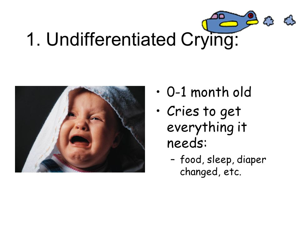 1. Undifferentiated Crying: