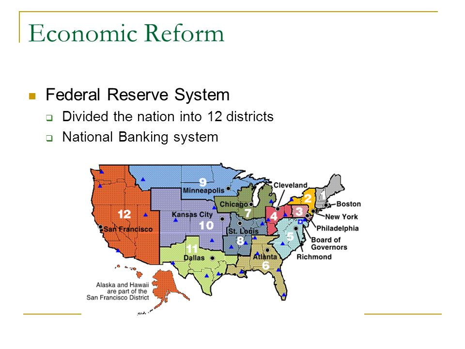 Economic Reform Federal Reserve System
