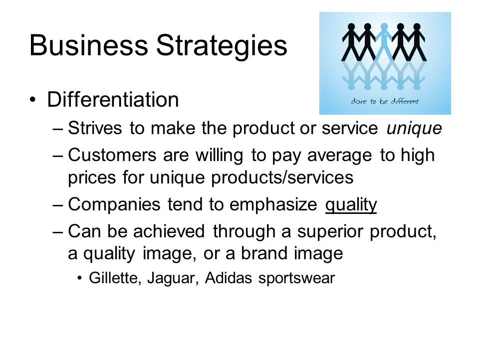 Business Strategies Differentiation