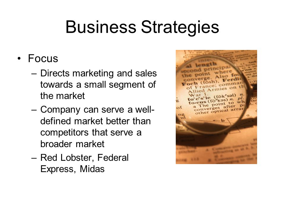 Business Strategies Focus
