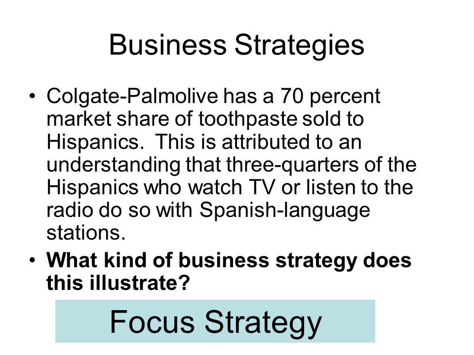 Focus Strategy Business Strategies