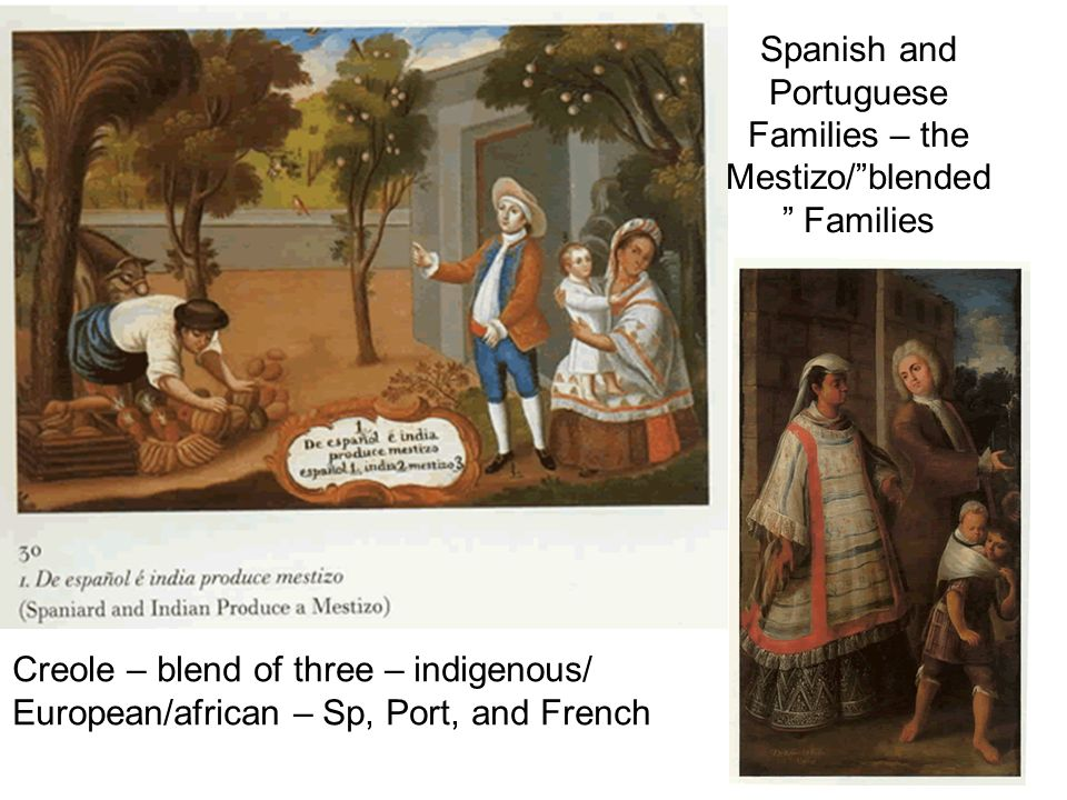 Spanish and Portuguese Families – the Mestizo/ blended Families