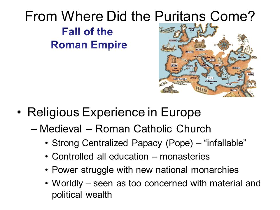 From Where Did the Puritans Come