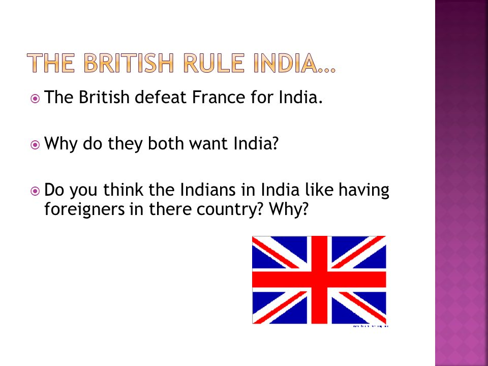 The british rule India…