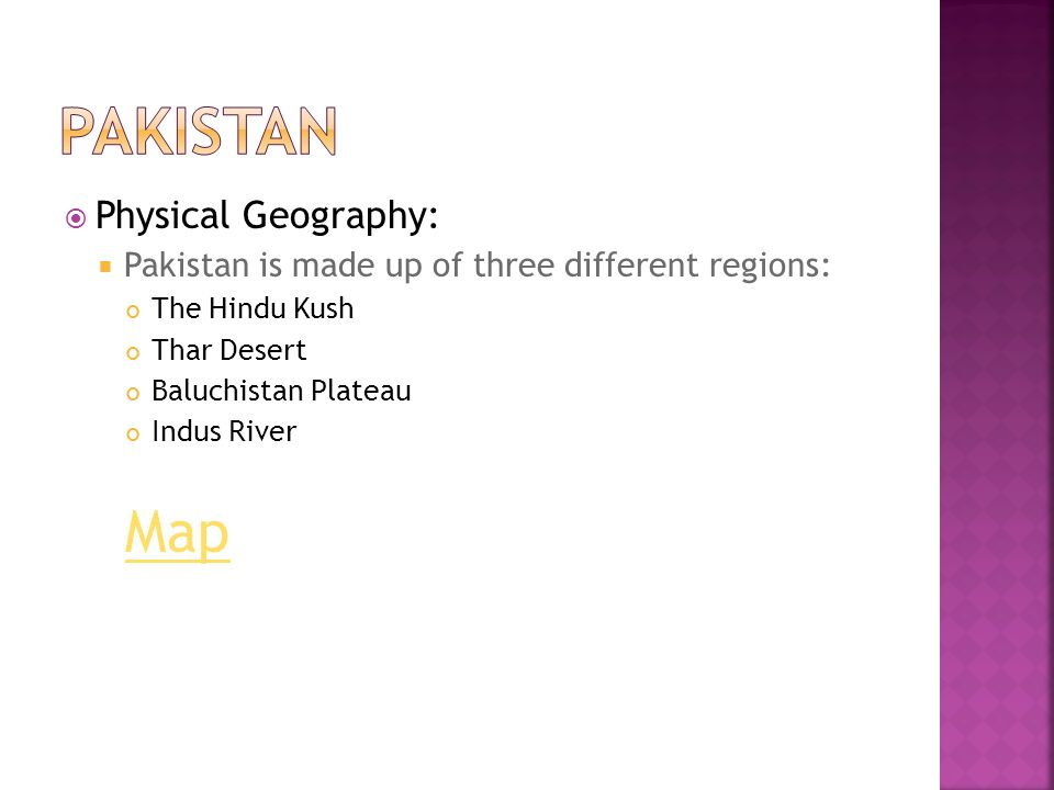 Pakistan Map Physical Geography: