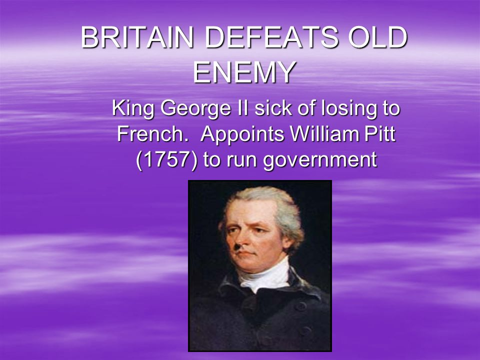 BRITAIN DEFEATS OLD ENEMY