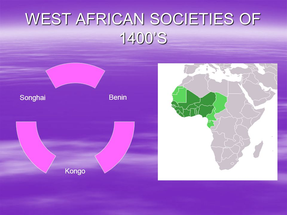 WEST AFRICAN SOCIETIES OF 1400'S
