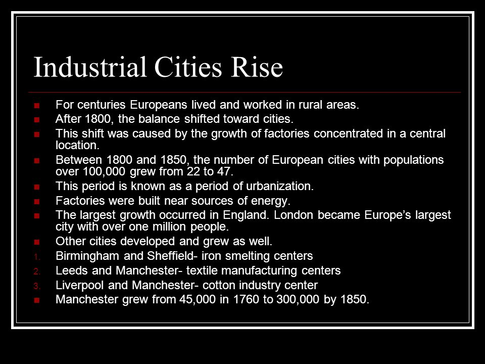 Industrial Cities Rise