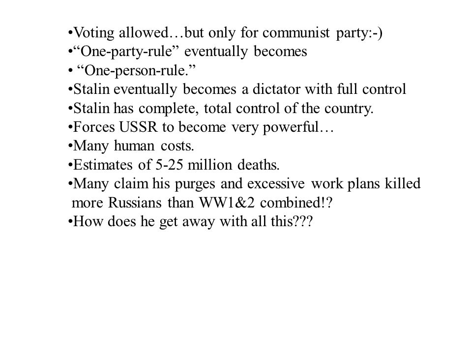 Voting allowed…but only for communist party:-)