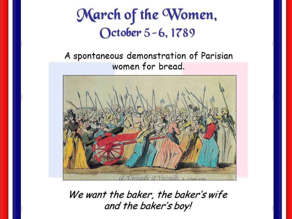 March of the Women, October 5-6, 1789