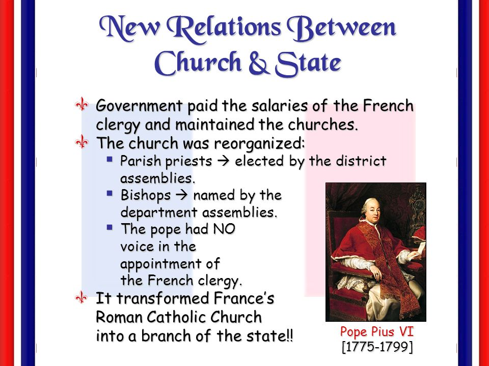 New Relations Between Church & State