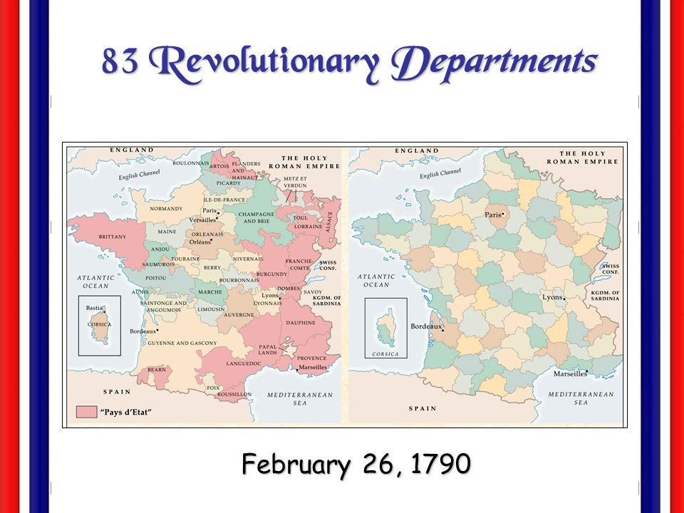 83 Revolutionary Departments