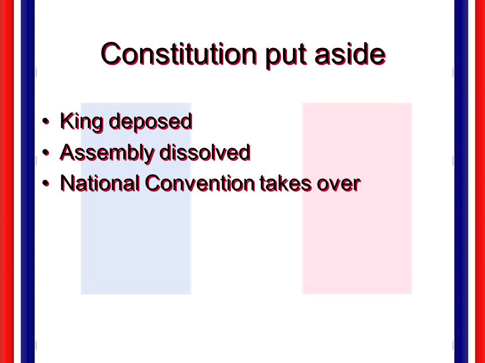 Constitution put aside