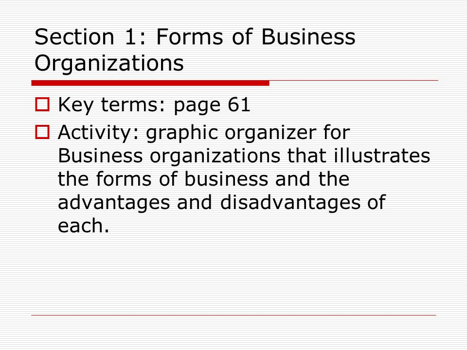 Chapter 3: Business Organizations - ppt video online download