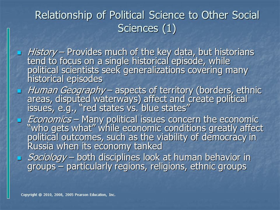 what is the relationship between political science and history