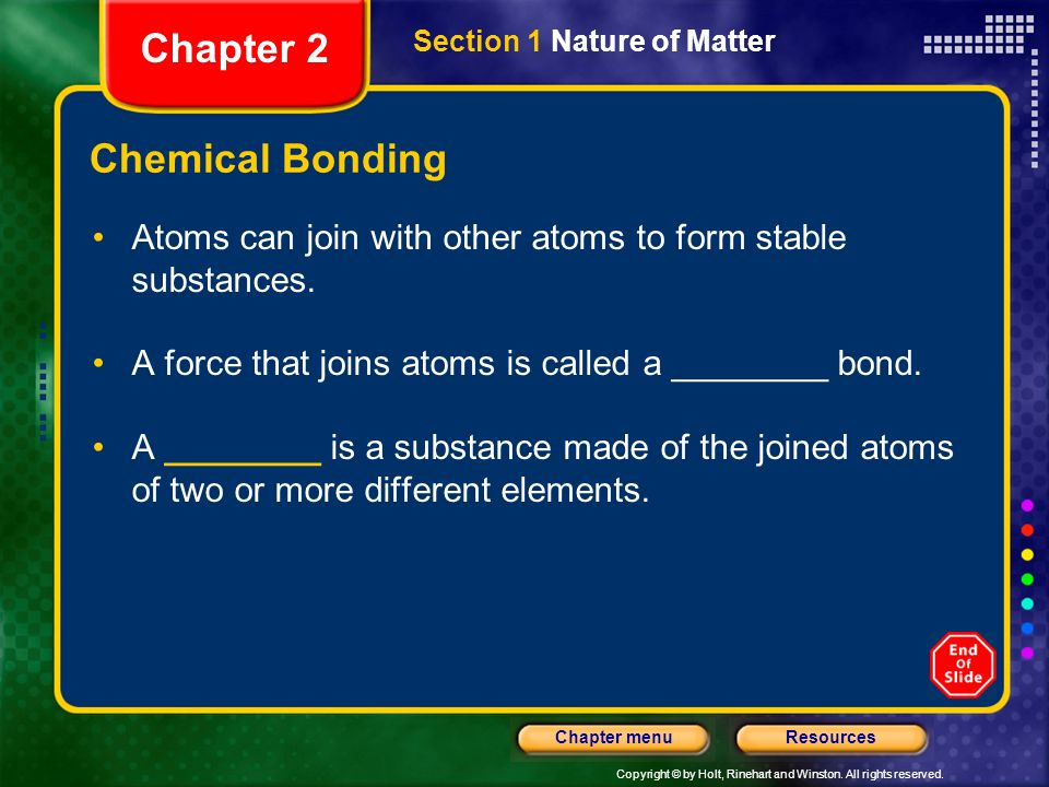 Chapter 2 Chemical Bonding