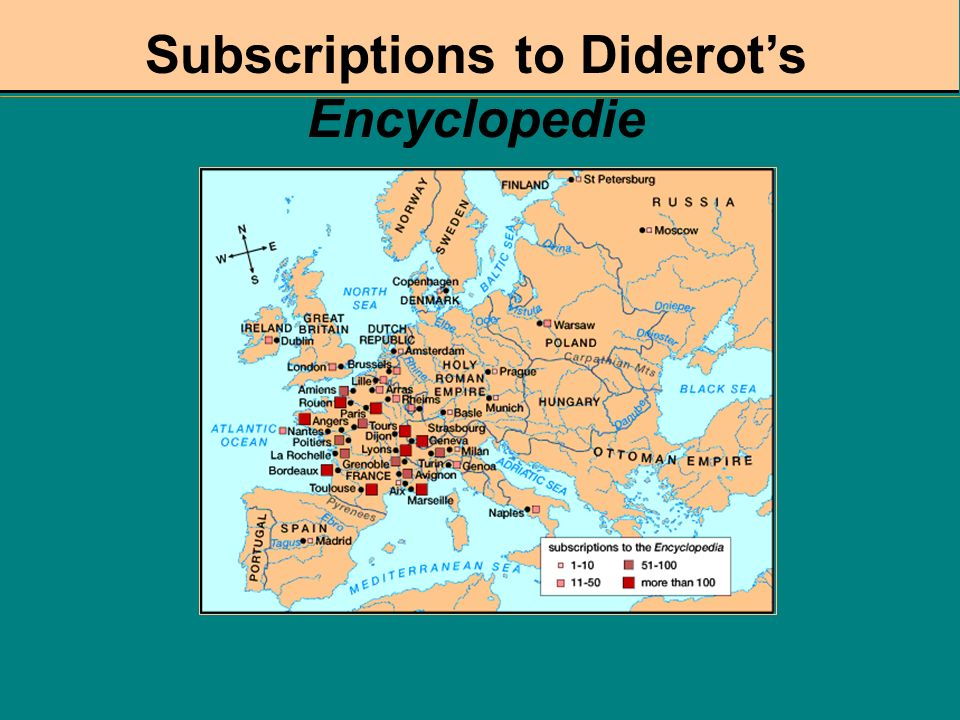 Subscriptions to Diderot's Encyclopedie