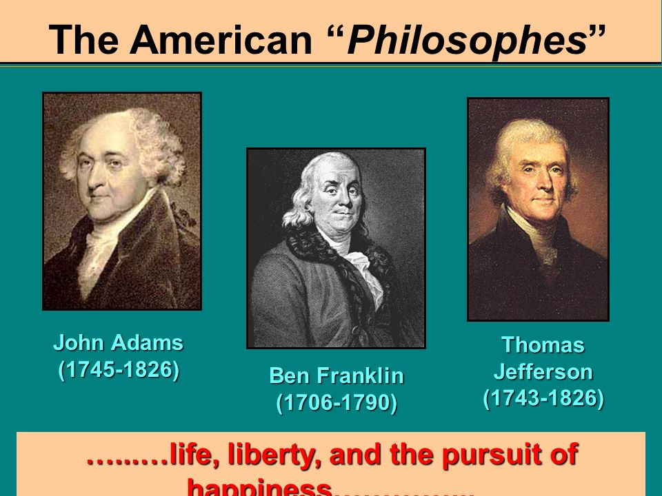 The American Philosophes
