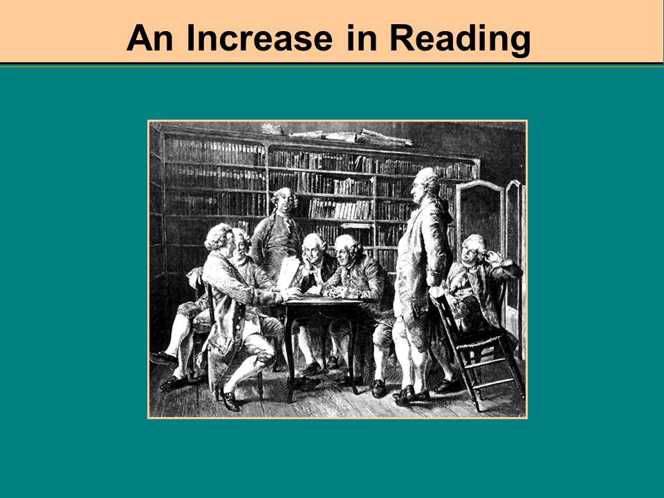 An Increase in Reading