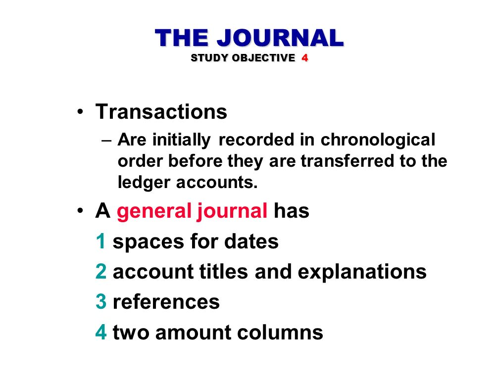 THE JOURNAL STUDY OBJECTIVE 4