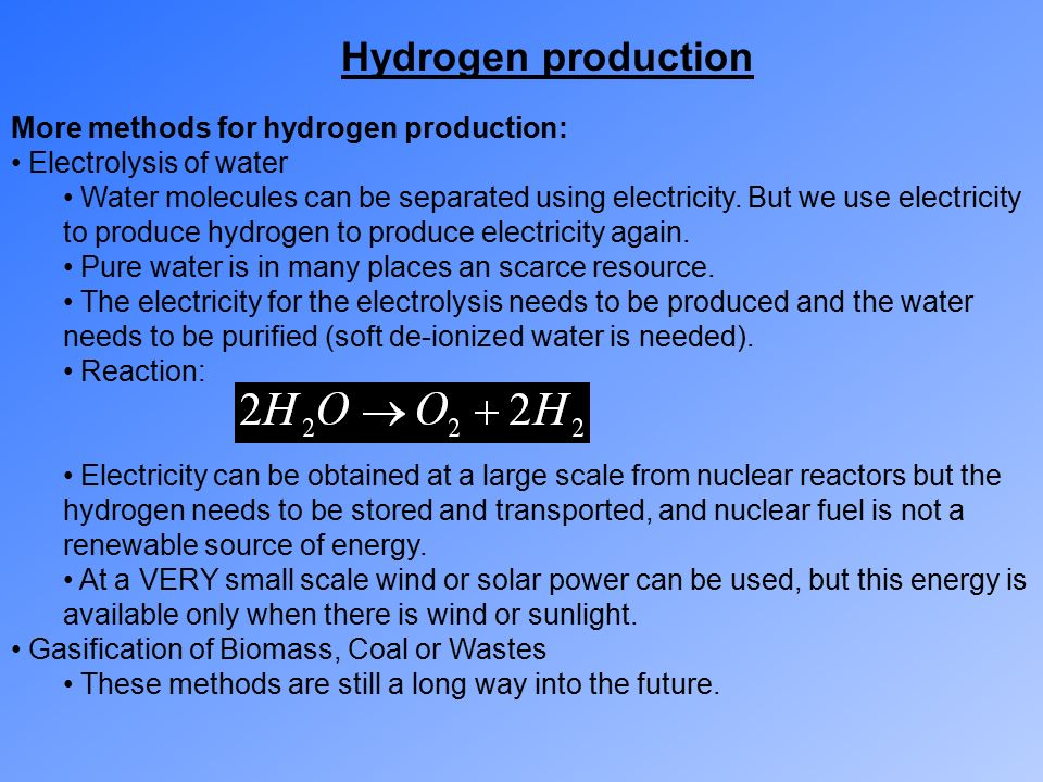 Pdf) sources and technology for hydrogen production: a review.