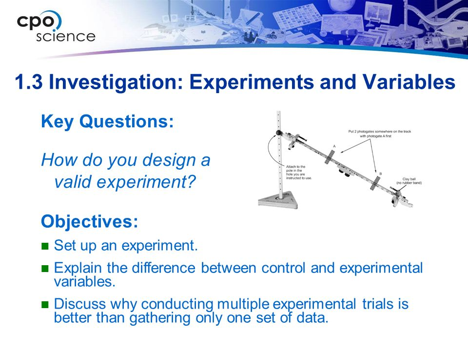 1.3 Investigation: Experiments and Variables