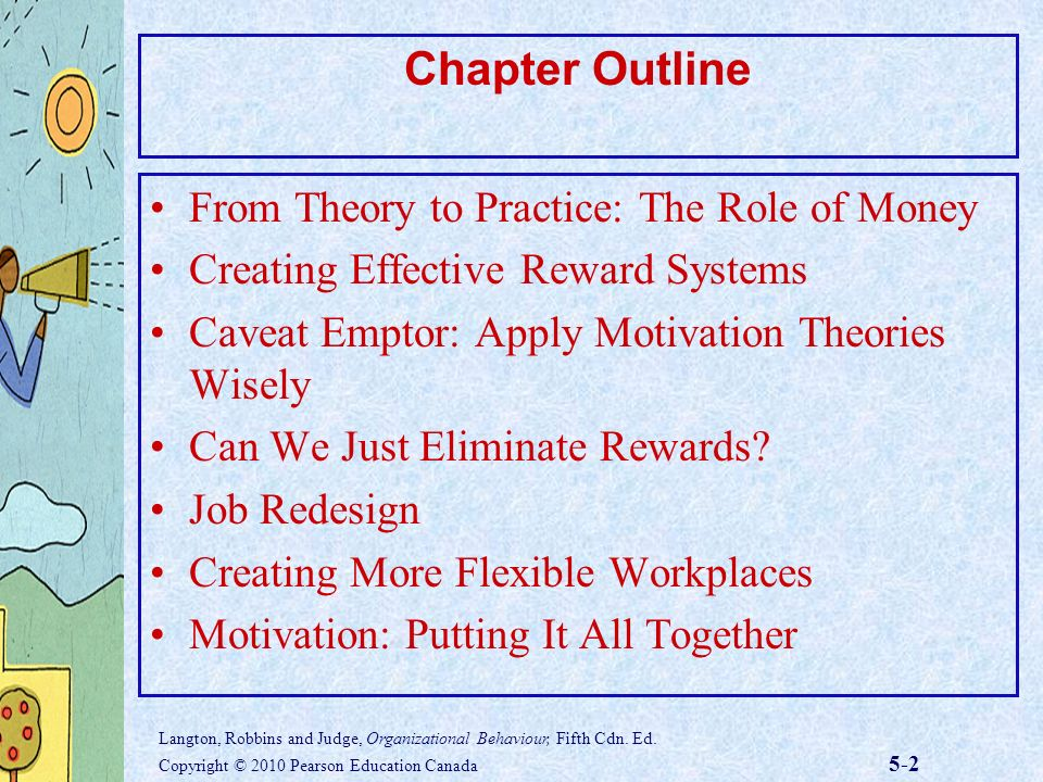 motivational theory and reward system