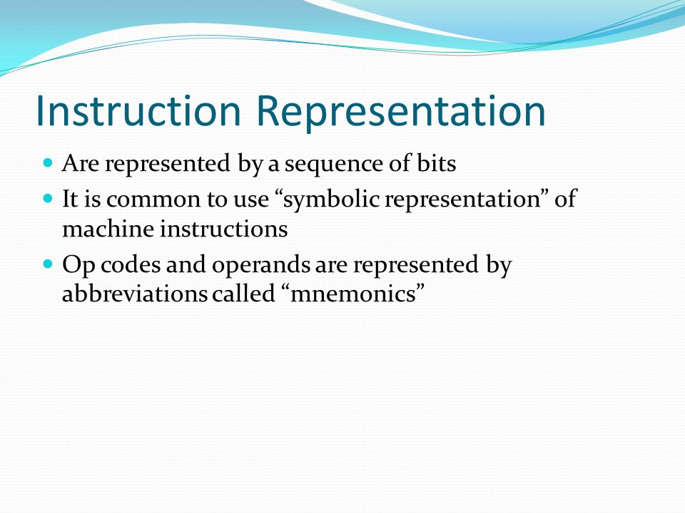 Instruction Representation