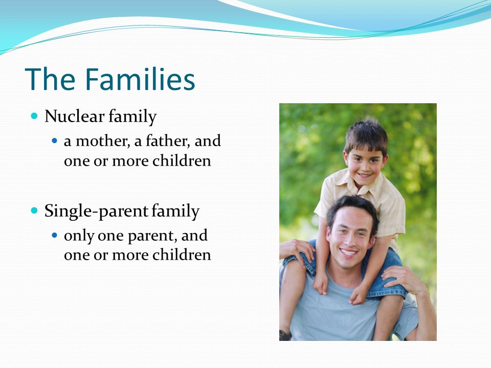 nuclear parent family