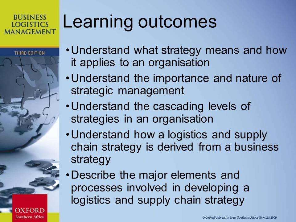 Logistics and supply chain strategy planning - ppt video
