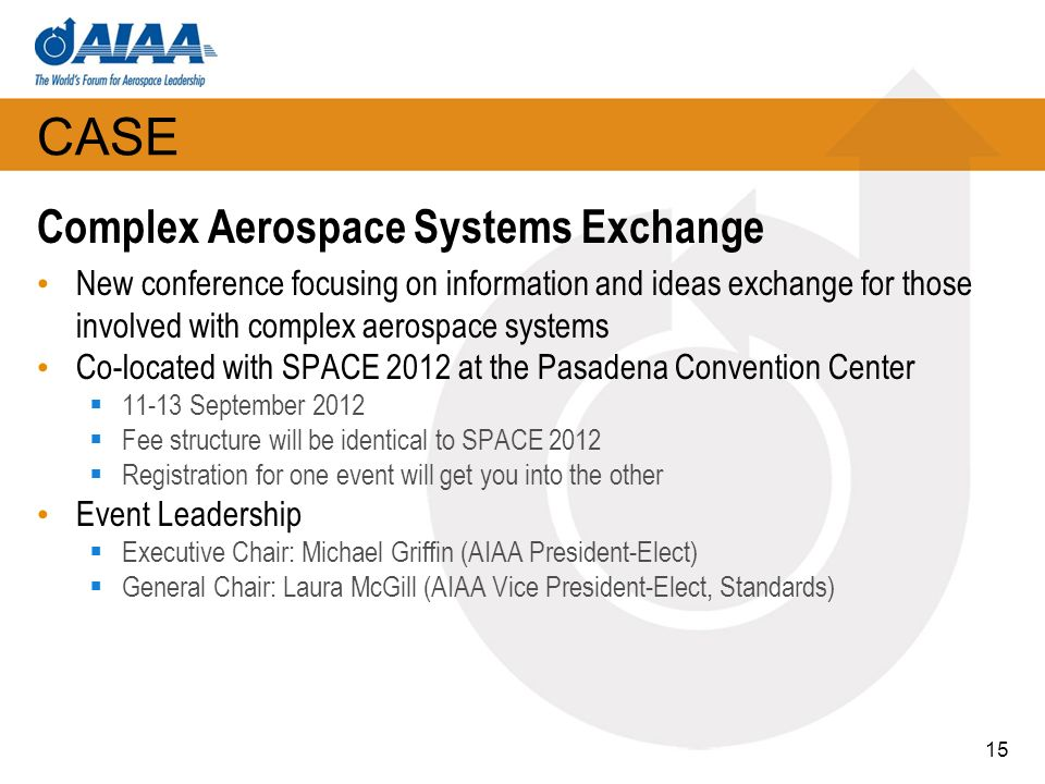 CASE Complex Aerospace Systems Exchange
