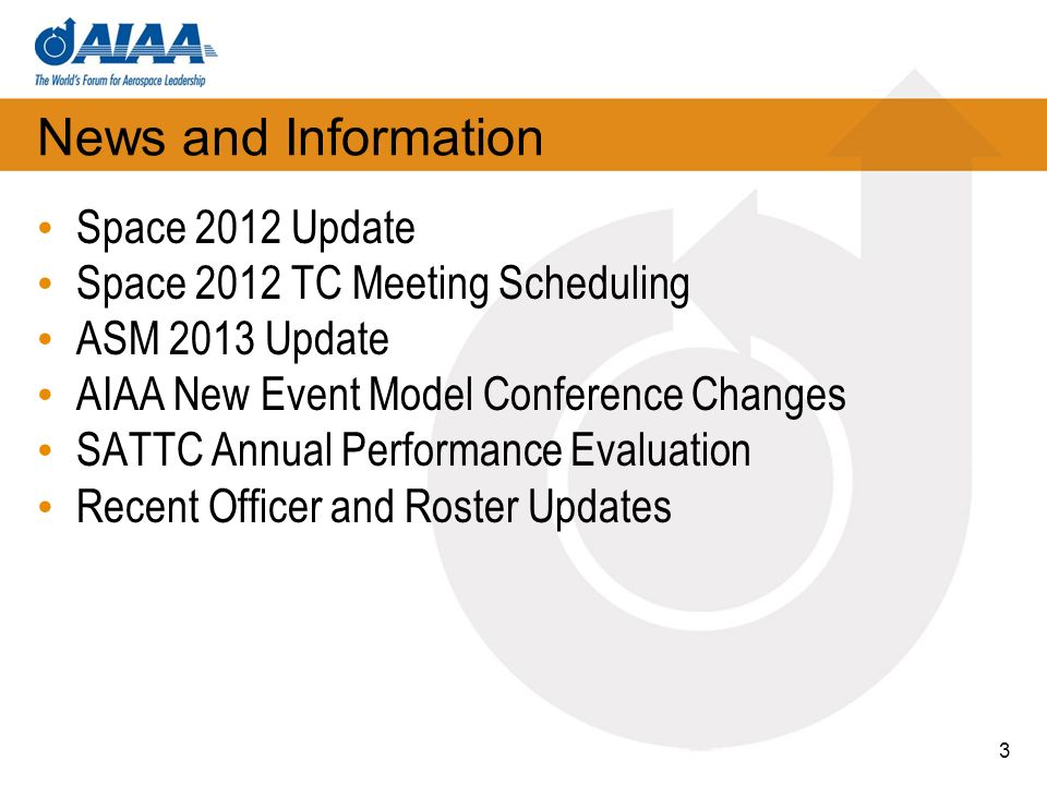 News and Information Space 2012 Update
