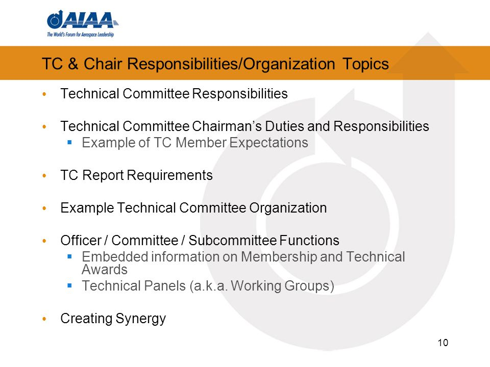 TC u0026 Chair Responsibilities/Organization Topics. 11 Technical Committee Responsibilities  sc 1 st  SlidePlayer & Technical and Program Committee Chair Training - ppt download
