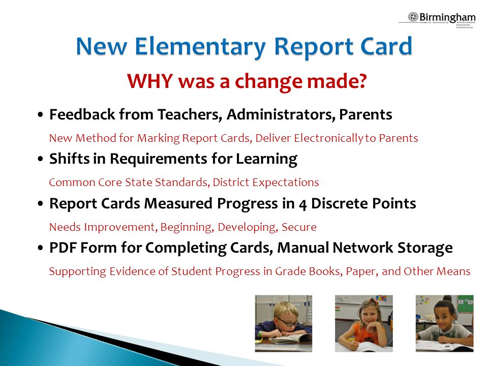 new elementary report card a transition to standards based grading