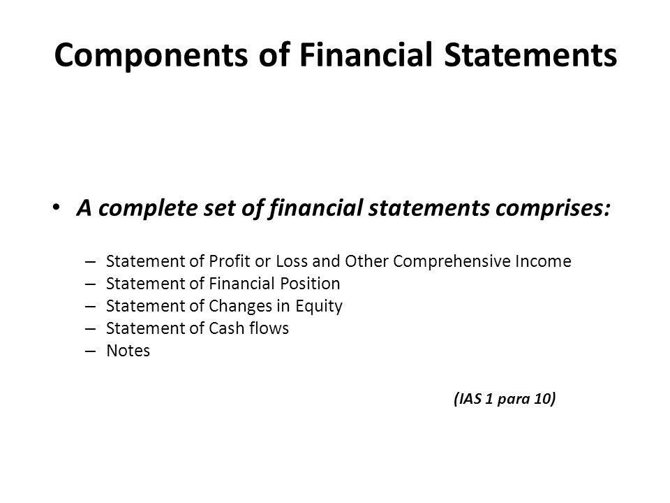 ACTG 6580 Chapters 4 and 5 – Income Statement, Statement of ...