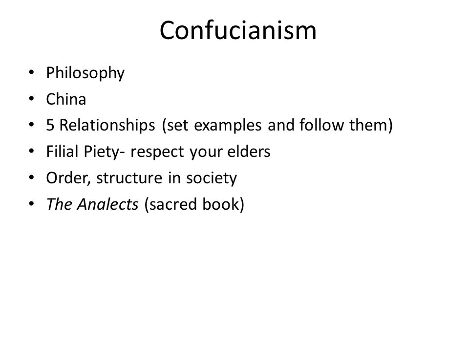 Confucianism Philosophy China