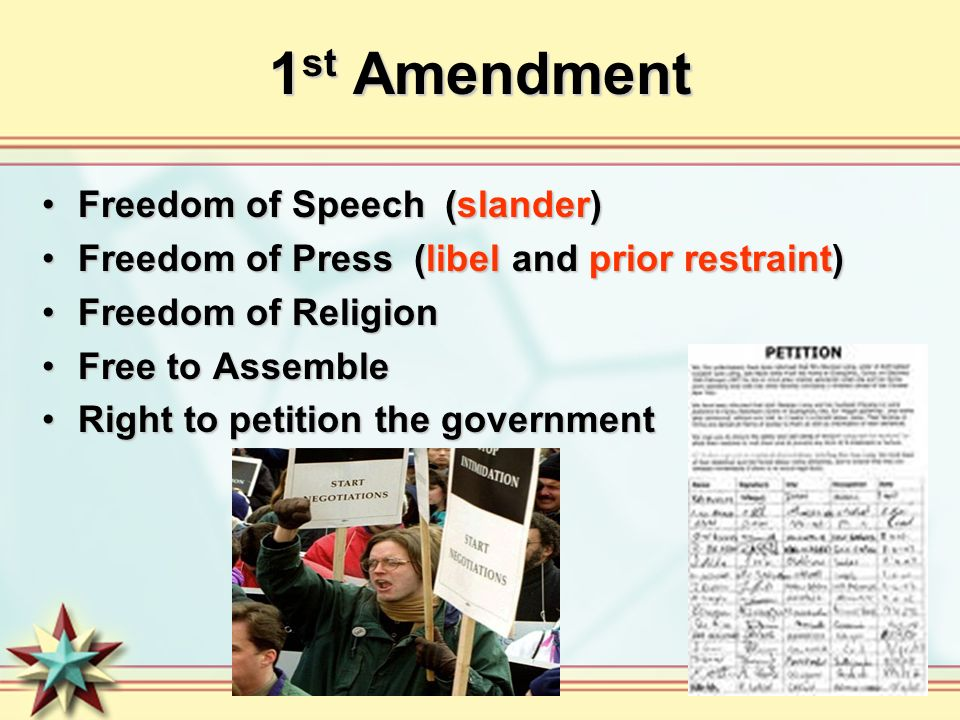 right to petition amendment order and civil liberties ppt 9016