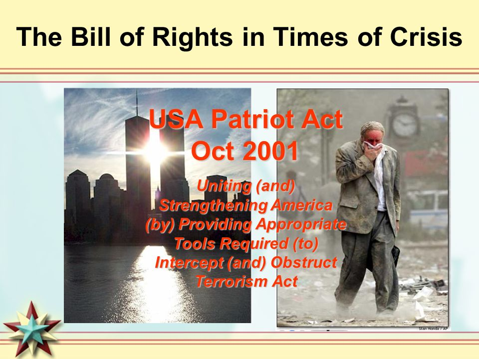 The Bill of Rights in Times of Crisis