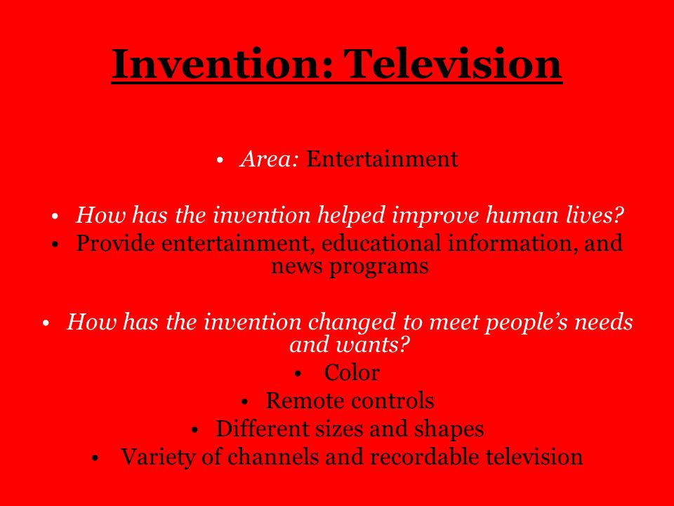 Invention: Television