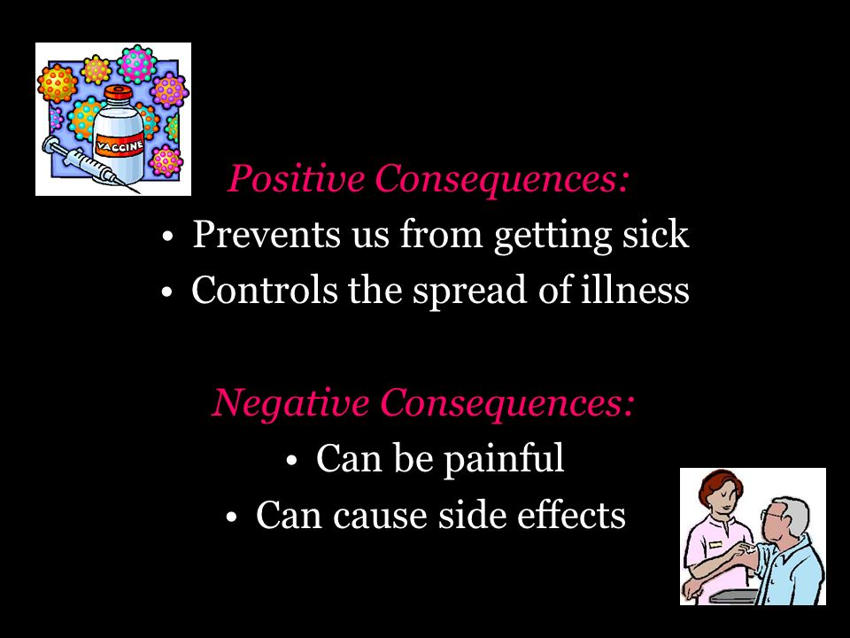 Positive Consequences: Prevents us from getting sick