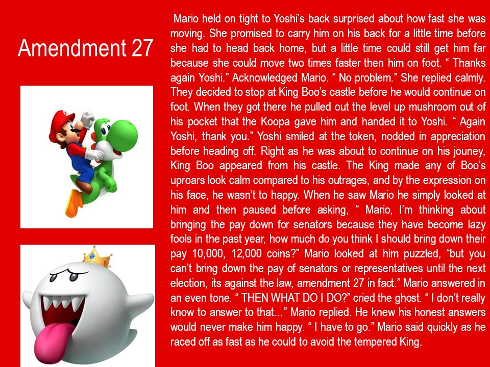Mario's Adventure Through the 27 Amendments - ppt download