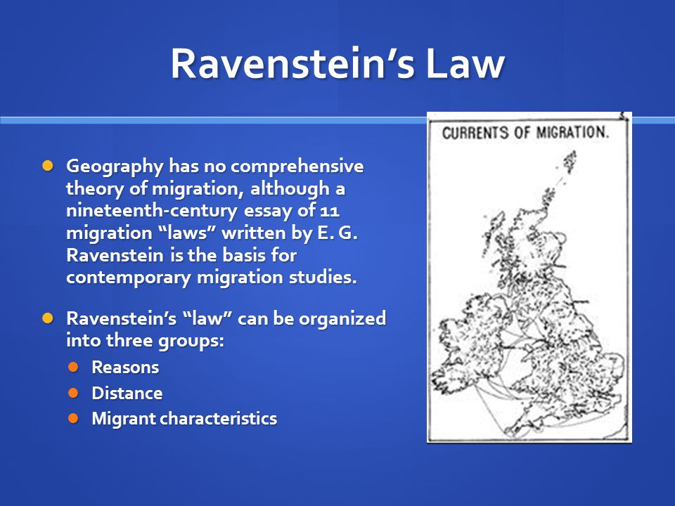 Ravenstein's Law