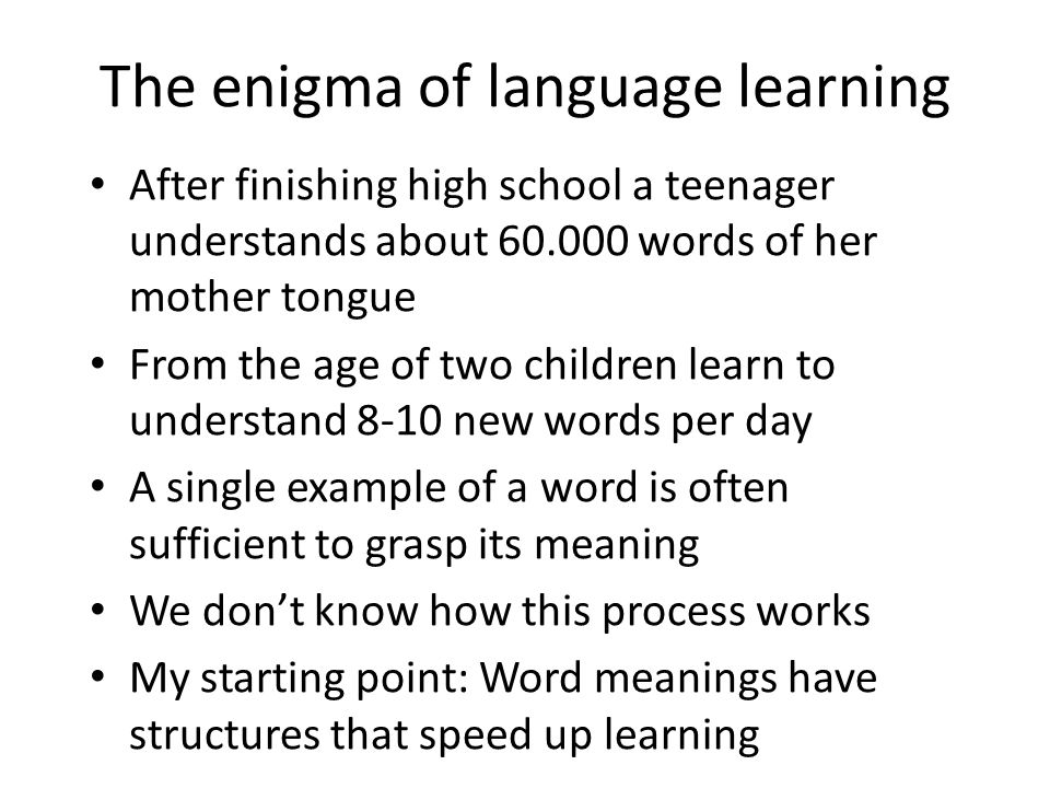 The Enigma Of Language Learning Ppt Download