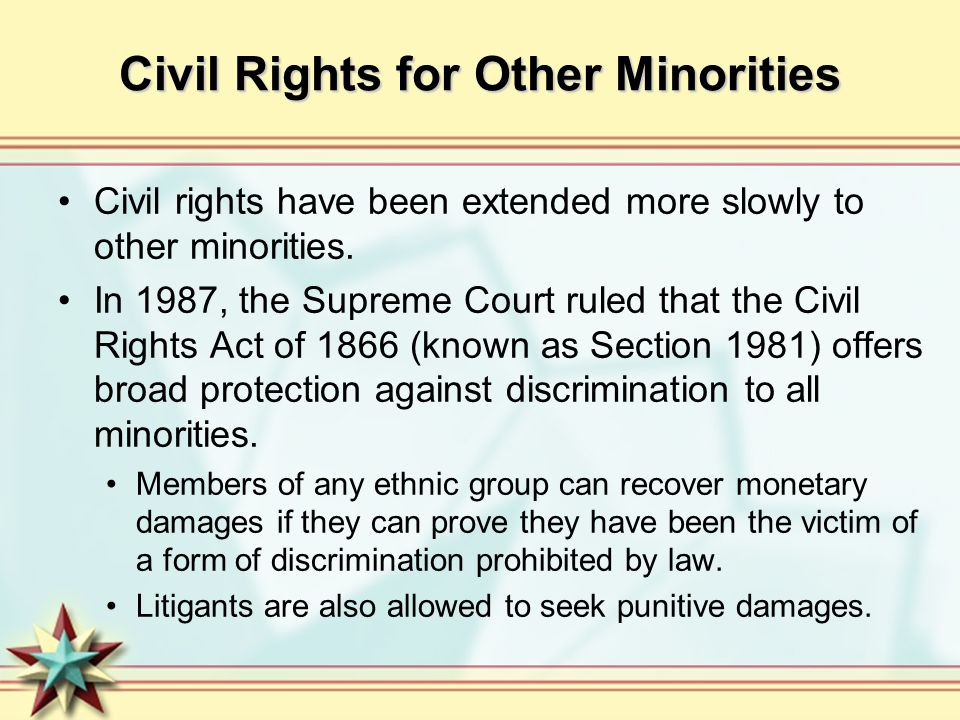 Civil Rights for Other Minorities