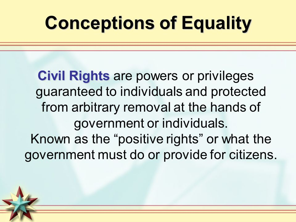 Conceptions of Equality