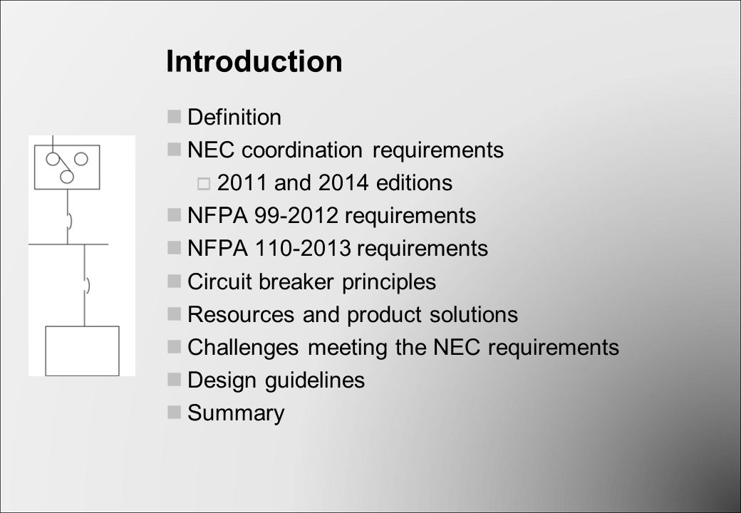 Selective coordination ppt video online download introduction definition nec coordination requirements keyboard keysfo Images