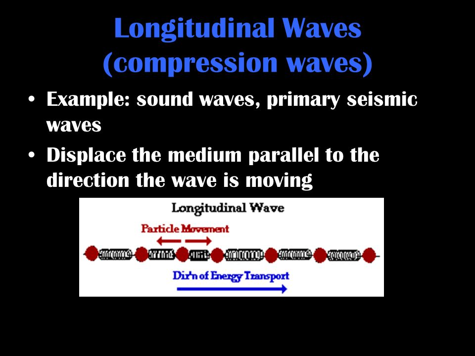 Longitudinal Waves (compression waves)