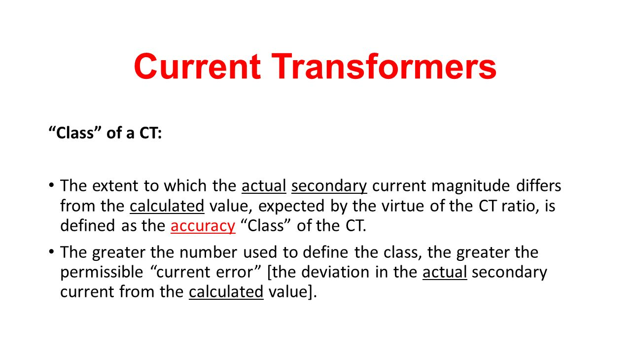 By Photo Congress || Current Transformer Ratio Error Calculation
