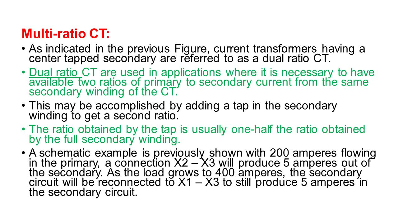 Instrument Transformers Ppt Video Online Download Ac Power Load Is Large The Use Of Current Transformer Multi Ratio Ct As Indicated In Previous Figure Having A