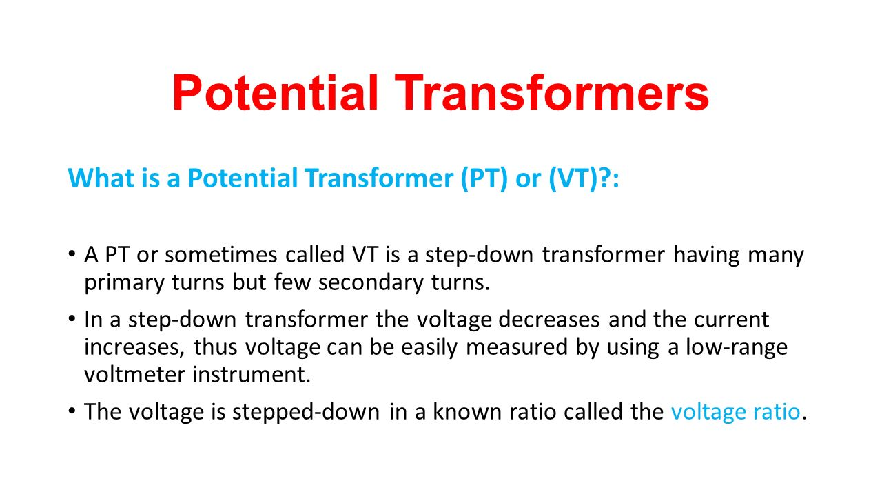 Instrument Transformers Ppt Video Online Download